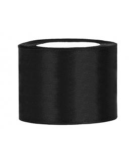 Ruban en satin noir très large (50 mm x 25 m)