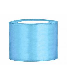 Ruban en satin bleu ciel très large (50 mm x 25 m)