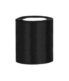 Ruban en satin noir XXL (100 mm x 25 m)