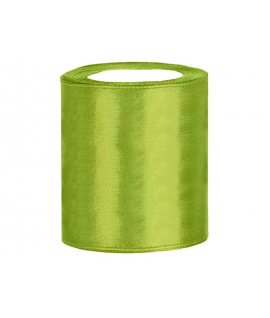 Ruban en satin vert pomme XXL (100 mm x 25 m)