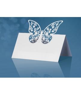 10 x Marque place avec découpe papillon
