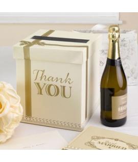 """Urne """"Thank You"""" ivoire et dorée"""