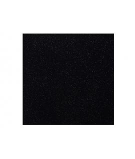 10 x Serviette noire brillante (40 cm x 40 cm)