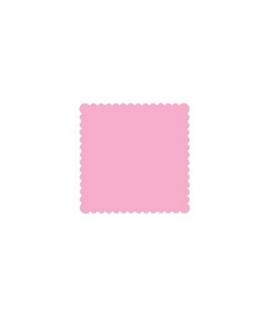200 x Serviette rose simple épaisseur (15 cm x 15 cm)