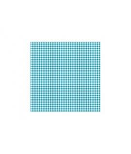 20 x Serviette à carreaux bleu ciel et blanc (25 cm x 25 cm)