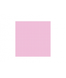 20 x Serviette à carreaux rose et blanc (25 cm x 25 cm)
