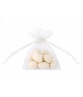 10 x Pochon blanc en organza