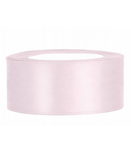Ruban en satin rose tres clair large (25 mm x 25 m)