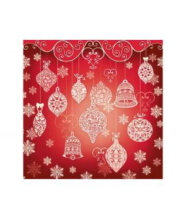 """20 x Serviette de Noël """"Rouges à guirlandes"""" (33 cm)"""
