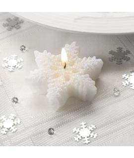 3 x Bougie étoile des neiges