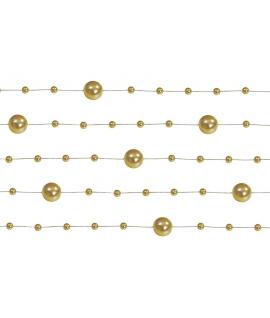 5 x Guirlande de perle Or 1,3m