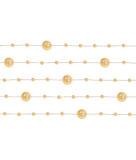 5 x Guirlande de perles Or Pastel 130 cm