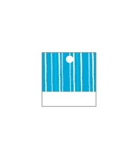 25 x Nominette turquoise carrée en carton (3 cm X 3 cm)