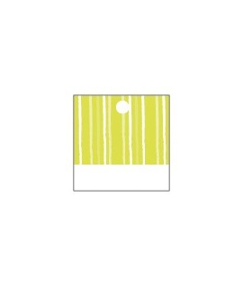 25 x Nominette verte carrée en carton (3 cm X 3 cm)