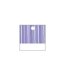 25 x Nominette lilas carrée en carton (3 cm X 3 cm)