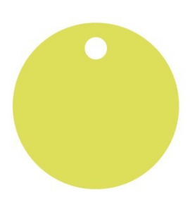 25 x Nominette verte ronde en carton (3 cm de diamètre)