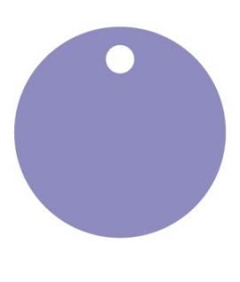 25 x Nominette lilas ronde en carton (3 cm de diamètre)