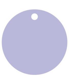 25 x Nominette lilas ronde en carton (4 cm de diamètre)