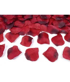 100 x pétales de roses rouges foncés