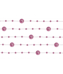 5 x Guirlande de perle rose foncé 1,3m