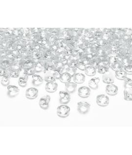 10 x Confettis de diamant en plastique transparent (12 mm)