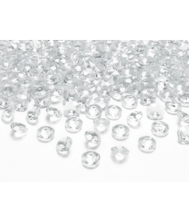 10 x Petit diamant en plastique transparent (20 mm)