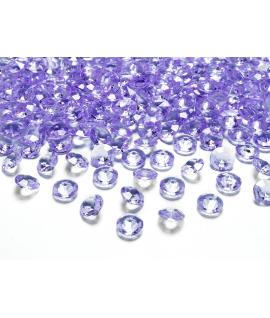 100 x diamant en plastique lilas (12 mm)