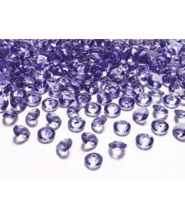 10 x Petit diamant en plastique violet (20 mm)
