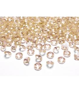 10 x Petit diamant en plastique or (20 mm)