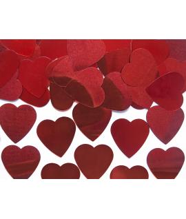 Confettis de cœur rouge (25 mm, 10 g)
