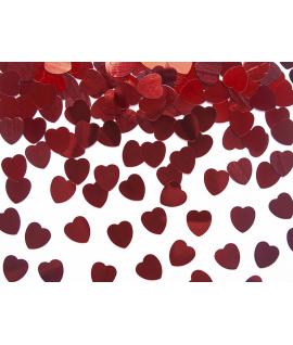 Confettis de cœur rouge (10 mm, 30 g)
