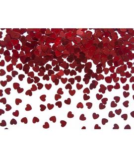 Confettis de cœur rouge (5 mm, 30 g)
