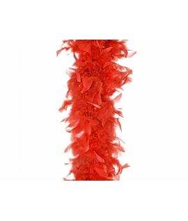 boa plume rouge