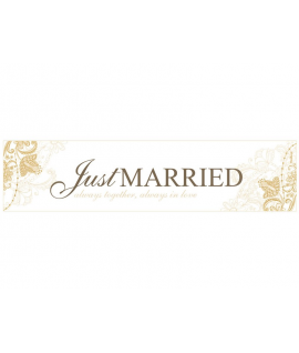 "Plaque d'immatriculation ""Just married"" or avec arabesque florale"
