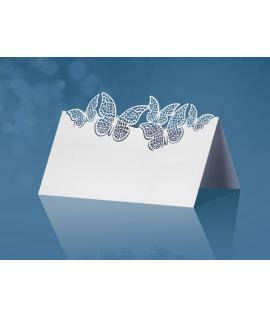 10 x Marque place avec découpe de 5 papillons (9 cm x 7,3 cm)