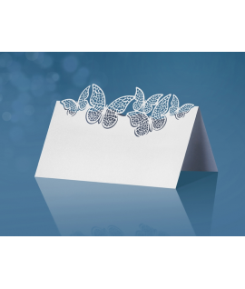 10 x Marque place avec découpe papillon (9 cm x 7,3 cm)