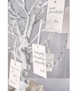 10 x Nominettes d'intention avec ruban satin blanc