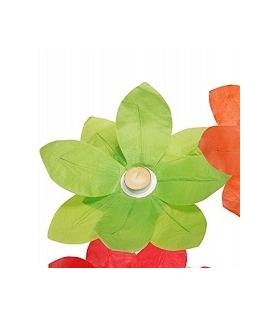 Lampion fleur vert à déposer sur l'eau (29 x 29 cm)
