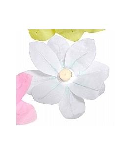 Lampion fleur blanc à déposer sur l'eau (29 x 29 cm)