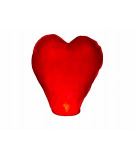 Lampe à Voeux Lanterne Céleste Volante Rouge En Forme De Coeur