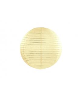 Lampion papier 20 cm crème