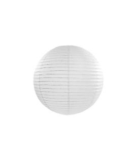 Lampion papier 20 cm blanc