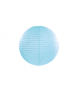 Lampion papier 35 cm bleu ciel