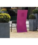 10 x Housse de chaise papier intissé prune 50 x 100 cm avec poche
