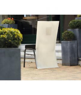 Habit de chaise papier intissé écru 50 x 100 cm avec poche