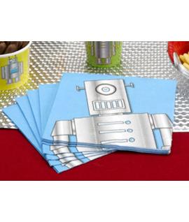 """20 x Serviette """"robot"""""""