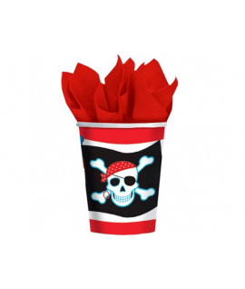 8 x gobelet pirate tête de mort