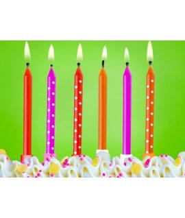 6x Bougie d'anniversaire pour gâteau thème fraises
