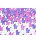 Confettis 15g poucette bébé rose-mauve