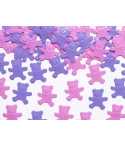 Confettis 15g ourson rose-mauve